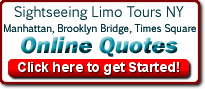 Sightseeing, NYC Attraction and Broadway Limo Ride Prices